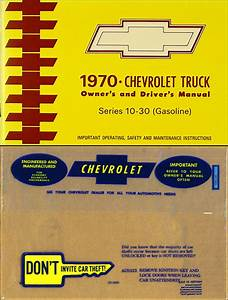 1970 Chevy Truck Owners Manual With Envelope 70 Pickup