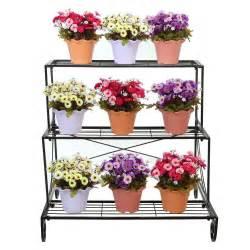 3 tier decorative black metal plant stand planter holder multi planter flowe ebay
