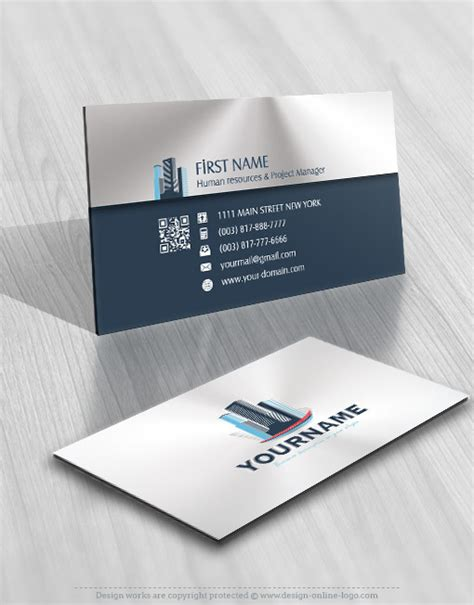 buildings real estate logo compatible  business card