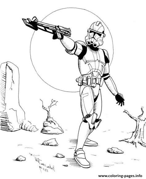 Clone Trooper Kleurplaat by Wars Stormtrooper Coloring Pages Printable