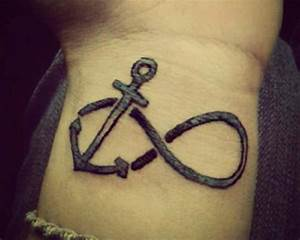anchor and infinity tattoo - Design of TattoosDesign of ...