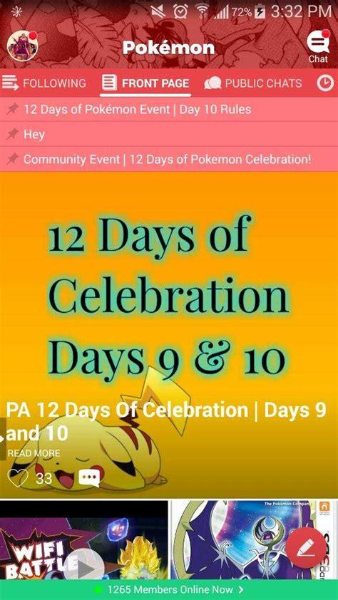 Pa 12 Days Of Celebration  Days 9 And 10  Pokémon Amino