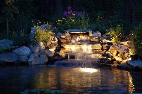 garden pond lighting ideas backyard pond lights outdoor furniture design and ideas