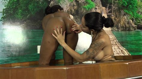 Busty Latina Lesbian And Her Ebony Lover Lick In The Hot