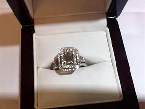 Hand Made Emerald Cut Diamond With Double Halo And Two