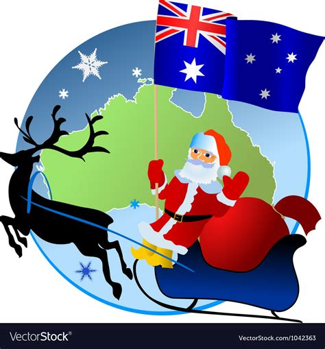 merry christmas australia royalty free vector image