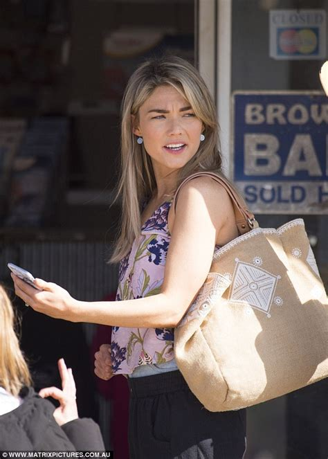 Home And Away's Sam Frost appears concerned as she films