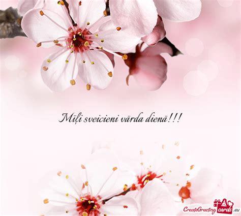 Mīļi sveicieni vārda dienā!!! - Free cards