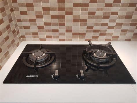kompor tanam modena 2 tungku kitchen appliances carousell