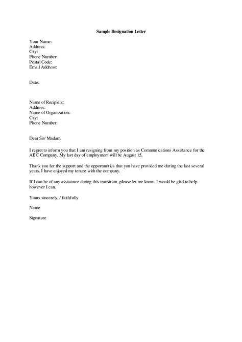 Resignation Letter Template | Fotolip.com Rich image and wallpaper