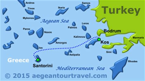 Kos To Santorini By Boat by Ferry Bodrum Kos Santorini Blue Ferries With Aegean