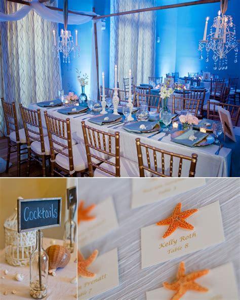 elegant beach inspired wedding reception decor onewedcom