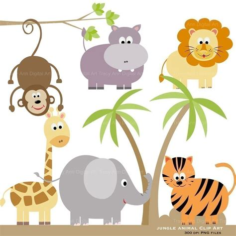 Zoo Animals Baby Shower Invitations
