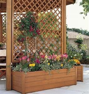 Treillis Pour Plantes Grimpantes : jardin de balcon la verticale et treillis en bois pour ~ Premium-room.com Idées de Décoration