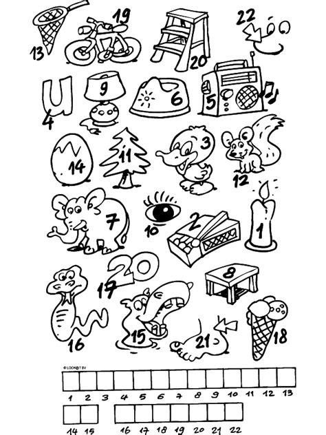 Puzzel Kleurplaat by Kleurplaat Puzzel Woordraadsel Kleurplaten Nl