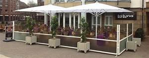windschutzanlage fur terrassen gastronomie windschutz With windschutz für terrassen