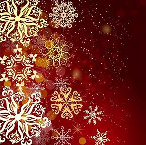 Red christmas background with snow Free vector in Adobe ...