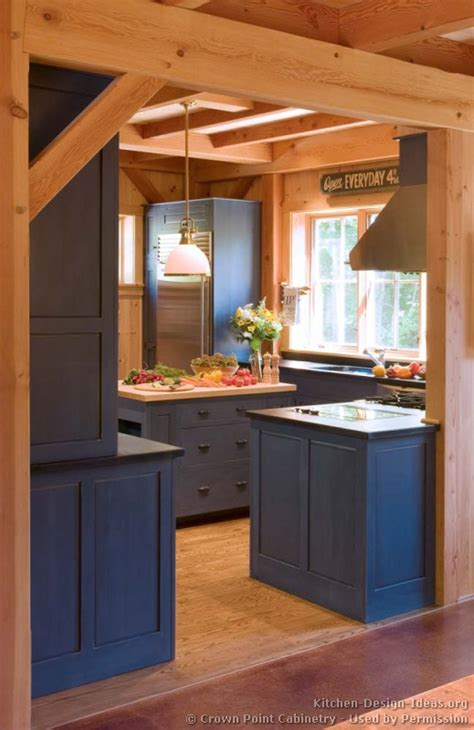 pictures  kitchens traditional blue kitchen cabinets