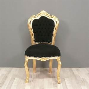 Chaise Baroque Noir : chaise baroque noire et or fauteuils louis xv ~ Teatrodelosmanantiales.com Idées de Décoration