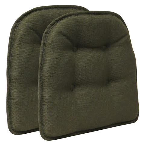 the gripper tufted odessa chair pad set of 2