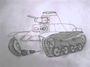 How to Draw Military Tank Drawings