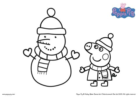 Peppa Pig Coloring Pages Printable Free Coloring Books