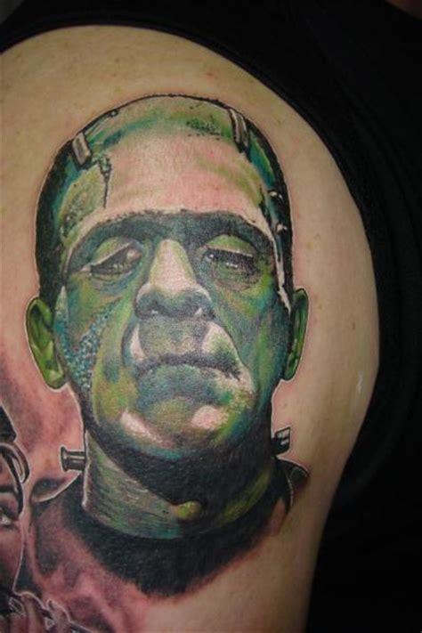 Black Flower Tattoos On Shoulder