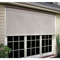 outdoor window shades Coolaroo Sesame Cordless Exterior Roller Shade - 96 in. W x 72 in. L-460044 - The Home Depot