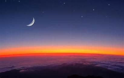 Luna Creciente Nueva Space Wallpapers Sunset Nature