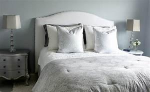 Tete De Lit Bois Blanc : lit tissu blanc ~ Teatrodelosmanantiales.com Idées de Décoration