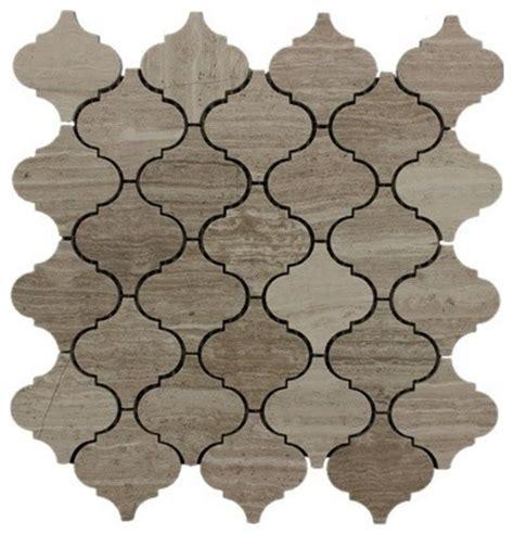 arabesque marble mosaic tile wood gray mediterranean