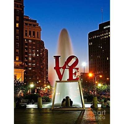 Philadelphia LOVE Park Print by Nick Zelinsky
