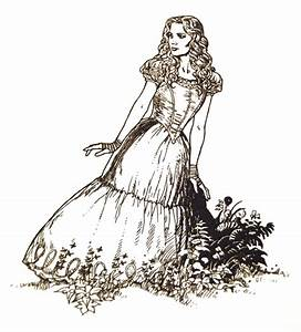 Alice in Wonderland Line Drawings - Alice in Wonderland ...