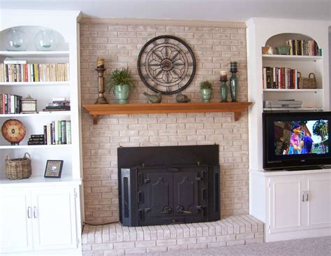 decorate brick fireplace mantel fireplace decorating fireplace mantel shelves an easy makeover