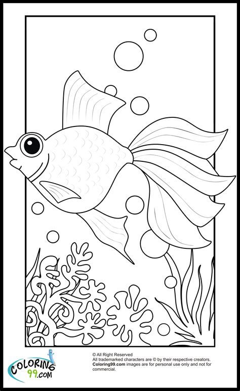 goldfish coloring pages getcoloringpagescom
