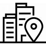 Icon Address Company Office Transparent Svg Symbol