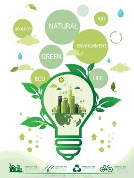 environment banner green design globe icons circle layout