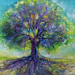 purple tree of painting by marcia baldwin