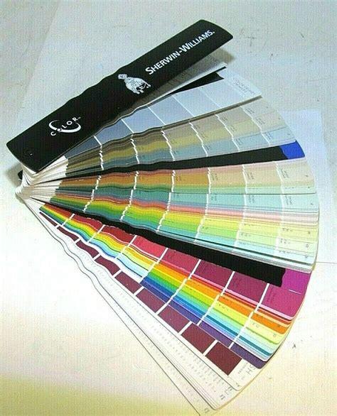 sherwin williams color fandeck fan deck 2011 paint chips swatch sles ebay