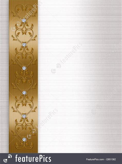 wedding invitation border gold illustration