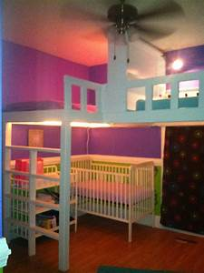 three in one room loft beds for the home