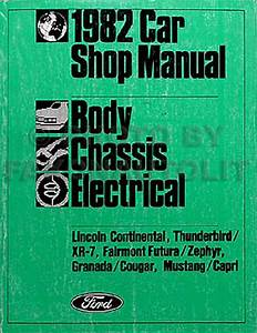 1982 Granada  Cougar Propane Engine Repair Shop Manual Original Supplement