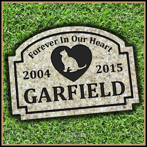 pet memorial grave marker headstone tombstone cat