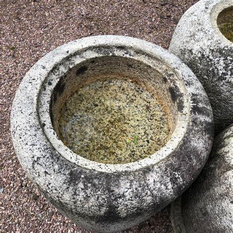 Japanese Antique Stone Planter Basins