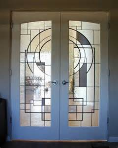 Custom Glass Closet Doors by Hand Crafted Custom Stained Glass In French Doors By