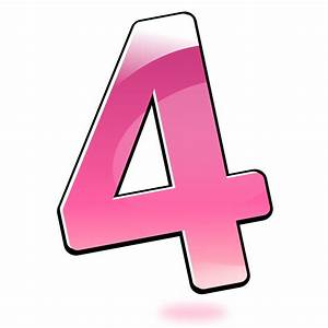 Clipart - Glossy Number : Four