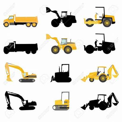 Construction Vector Clipart Machines Machinery Equipment Vehicles