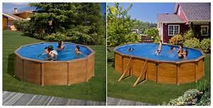 Piscine Acier Imitation Bois : kit piscine gr h120 ou h132 mod le aspect bois pas cher ~ Dailycaller-alerts.com Idées de Décoration