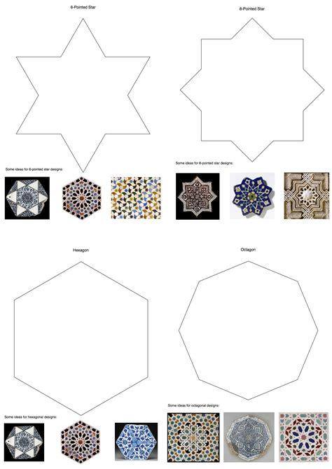 tile templates art lesson ceramics   islamic art