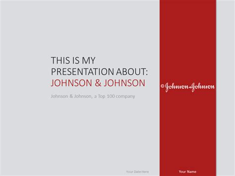 Company Powerpoint Template Design Johnson And Johnson johnson johnson powerpoint template presentationgo